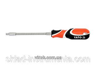 "Викрутка з гнучким стержнем YATO 1/4"" 150 мм"
