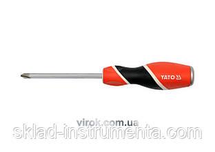 """Викрутка хрестова ударна тип """"Philips"""" YATO; PH2, l= 100 мм [6/24/96]"""