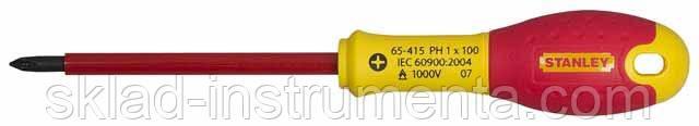 "Викрутка діелектрична хрестова STENLEY ""FatMax VDE 1000V"" PH1 x 100 мм"