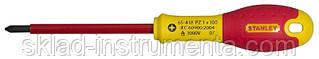 """Викрутка діелектрична хрестова STENLEY """"FatMax VDE 1000V"""" PZ2 x 125 мм"""