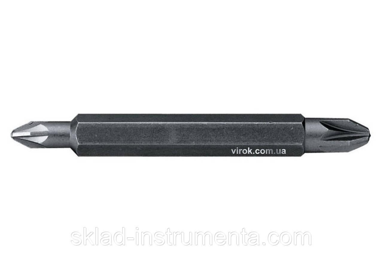 Насадка викруткова двохстороння STANLEY хрестова PH1/PH2 х 60 мм 10 шт