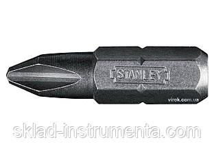"""Насадка викруткова STANLEY 1/4"""" хрестова PH2 х 25 мм 25 шт"""