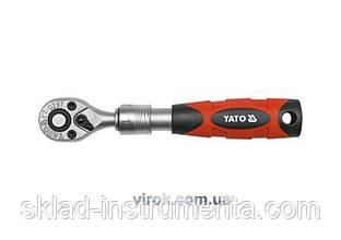 """Тріщатка 1/4"""" телескопічна YATO 150-200 мм 72 зубці"""