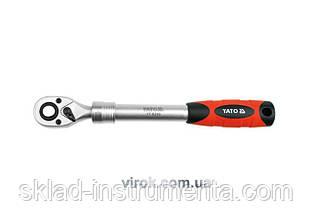 """Тріщатка 1/2"""" телескопічна YATO 305-445 мм 72 зубці"""