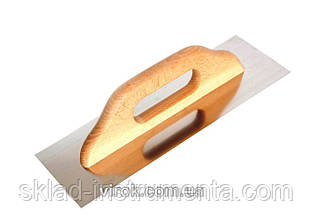 Гладилка з деревяною ручкою VIROK 380 мм