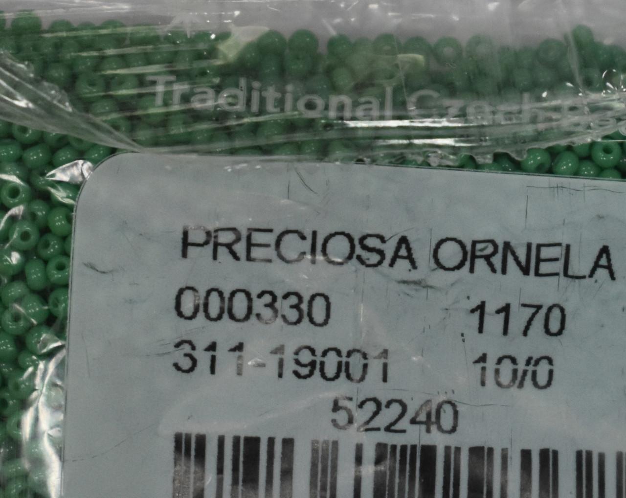 Бісер Preciosa 10/0 колір 52240 зелений 10г