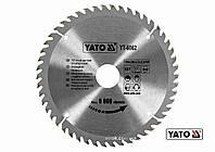 Диск пиляльний по дереву YATO 184 х 30 х 3.2 х 2.2 мм 50 зубців R.P.M до 9000 1/хв, фото 1