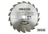 Диск пиляльний по дереву YATO 185 х 20 х 2.4 х 1.4 мм 18 зубців R.P.M до 9000 1/хв