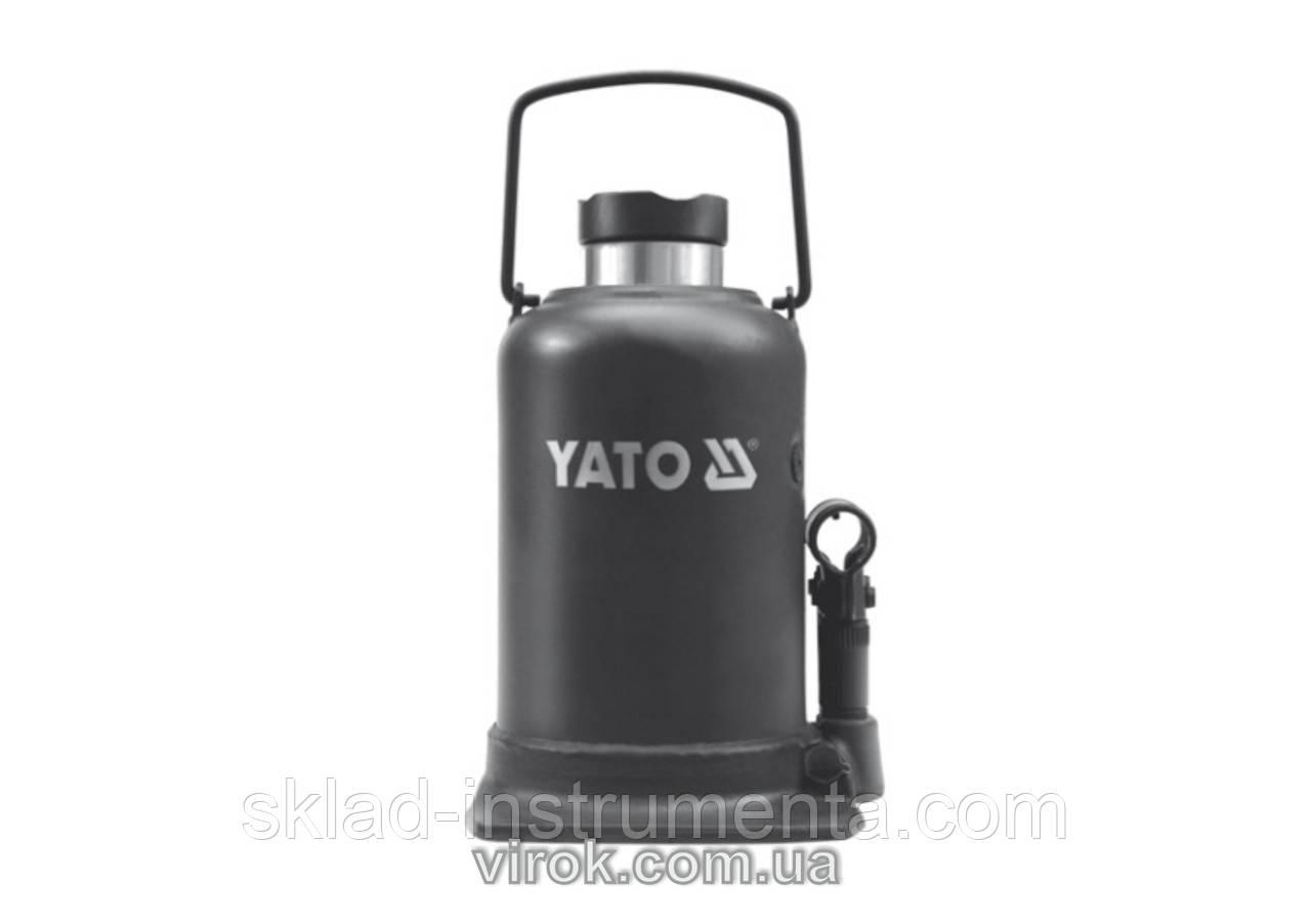 Домкрат гідравлічний стовбцевий YATO 10 т 220-483 мм