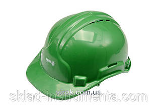 Каска для захисту голови VOREL зелена