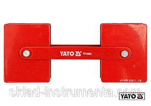 Струбцина магнітна YATO для зварки 85 x 65 x 22 мм 2 x 22.5 кг