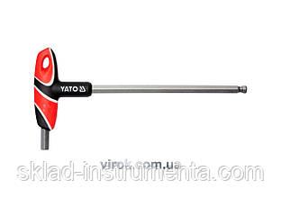 Ключ шестигранний Т-подібний з кулькою YATO HEX 10 х 200 мм