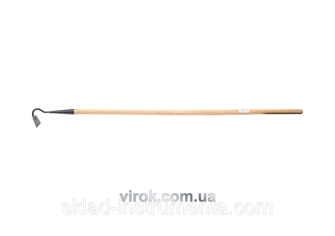Мотика трапецієвидна з дерев'яна яною ручкою FLO 120 см