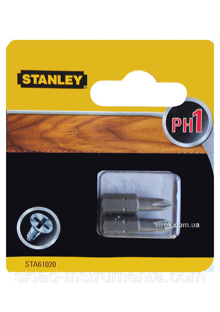 Насадка викруткова STANLEY хрестова PH1 х 25 мм 2 шт