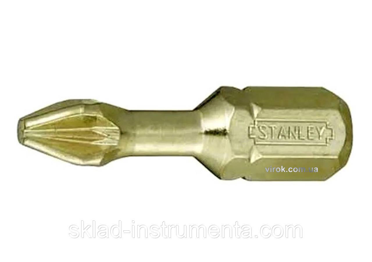 """Насадка викруткова STANLEY 1/4"""" хрестова PH2 x 25 мм 6 шт"""