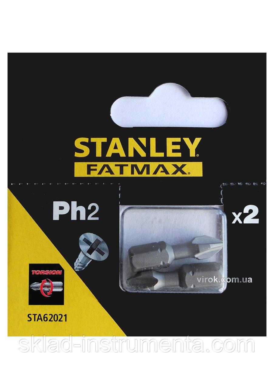 Насадка викруткова STANLEY хрестова PH2 х 25 мм 2 шт