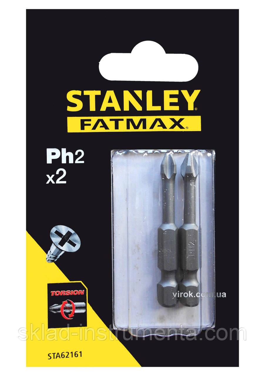 Насадка викруткова STANLEY хрестова PH2 х 50 мм 2 шт