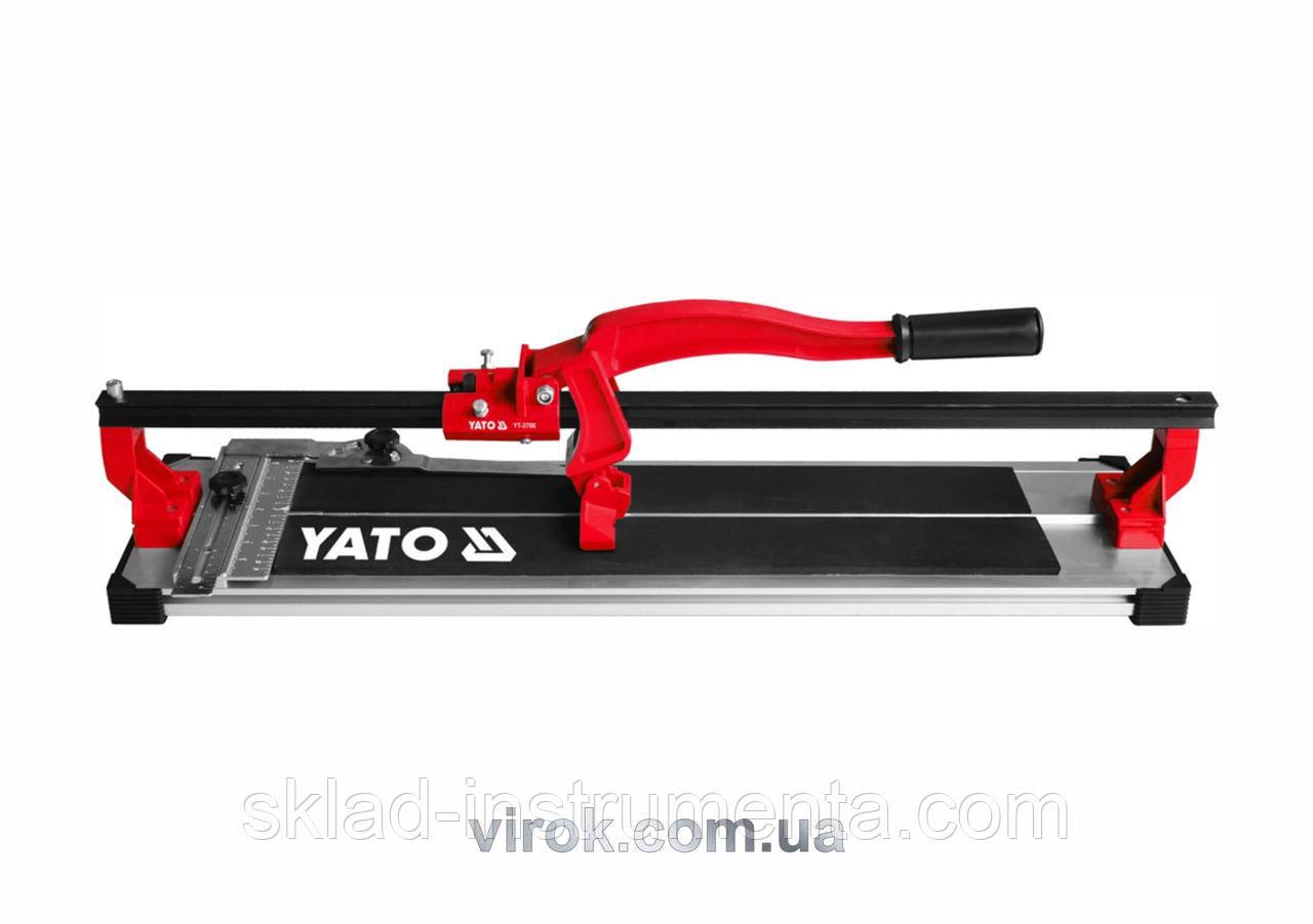 Плиткоріз ручний YATO з ковзаючим повзунком і 1-ю направляючою 50 cм