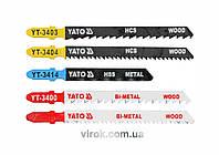 Набір полотен для електролобзика (метал, дерево) YATO Bi-Metal 75-100 мм 5 шт