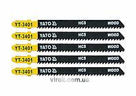 Полотно для електролобзика (дерево, пластик) YATO HCS 10TPI 100 мм 5 шт