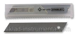 Лезо з відломними сегментами STANLEY 18 мм 10 шт