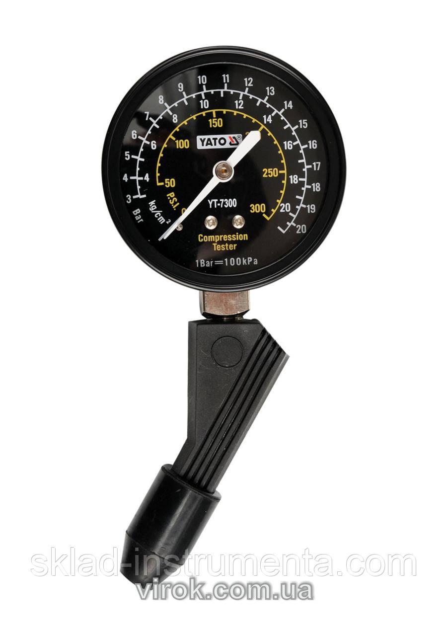 Компресометр для бензинових двигунів YATO, P = 21 Bar  [24/48]