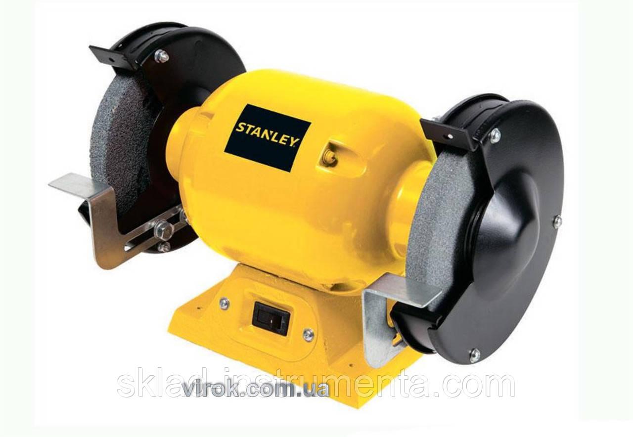 Точильний верстат STANLEY з двома дисками 150 мм 370 Вт 3450 об/хв
