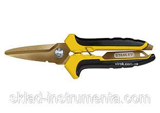 Ножиці по металу STANLEY з титановим покриттям 200 мм