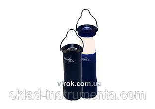Ліхтар 1-діод в алюмін. корпусі підвісний, чорний, 3 Вт  батарейки 3хААА [20/40]