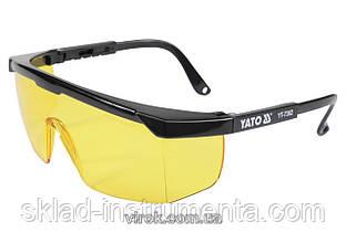Окуляри захисні YATO відкриті жовті на оправі
