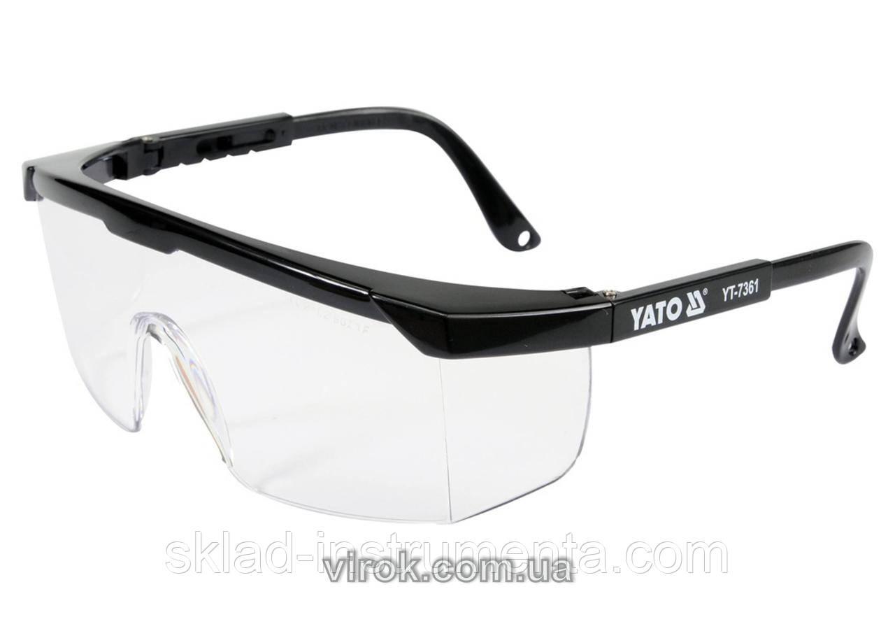 Окуляри захисні YATO відкриті прозорі на оправі