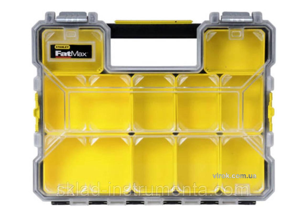 """Органайзер вологостійкий пластиковий STANLEY """"FatMax ShalIow Pro Metal Latch"""" з металевими замками 44.6 х 7.4 х 35.7 см"""