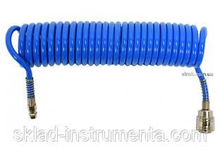 Шланг пневматичний спіральний поліуретановий YATO 5.5 х 8 мм 5 м