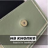 Женская классическая сумочка кросс-боди через плечо на цепочке зеленая оливковая хаки, фото 2