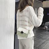 Женская классическая сумочка кросс-боди через плечо на цепочке зеленая оливковая хаки, фото 4