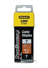 """Скоби для кріплення кабеля STANLEY """"S"""" 10 мм 1000 шт"""