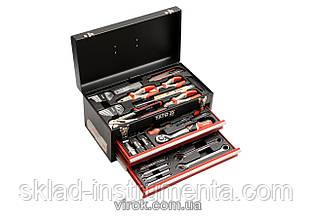 Ящик YATO з інструментами 80 шт., 3-ярусний з 2 шуфлядами