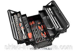 Ящик YATO розкладний металевий з інструментами- 63 шт, 475х230х365 мм
