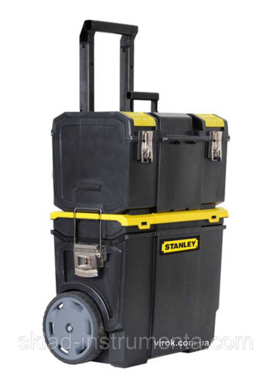 """Ящик для інструментів на колесах STANLEY """"Mobile WorkCenter"""" 47.5 х 28.4 х 63 см 2 секції"""
