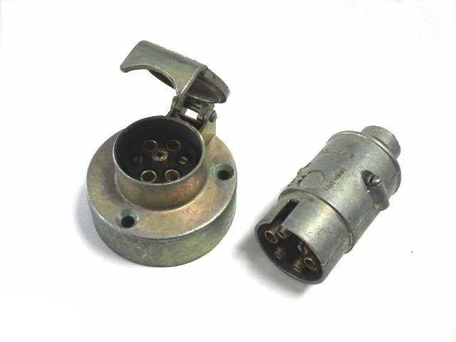 Разъем на прицеп (папа+мама) разъем электрический прицепа 7-полюсный (комплект металл)