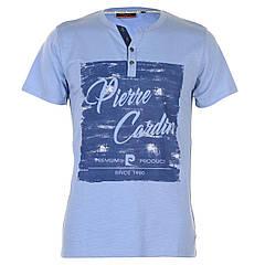 Футболка  мужская Pierre Cardin Print Y Neck  Blue