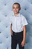 Сорочка для хлопчика синя клітинка код 01871 Сорочка для хлопчика блакитна клітка Тканина: бавовна Розміри: 122,, фото 6
