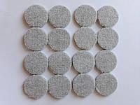 Круглі підкладки для меблів 38 мм самоклеючі повстяні 32 шт, фото 1
