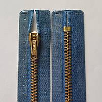 Металлические молнии М3 PRYM 16, 18, 20 см неразъемные с механическим фиксатором, синий и голубой Голубой, 180