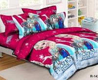 Полуторный размер постельное белья бязь Фрозен Холодное сердце