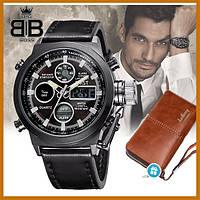 Мужские часы Amst (АМСТ) / наручные часы + кошелек в подарок
