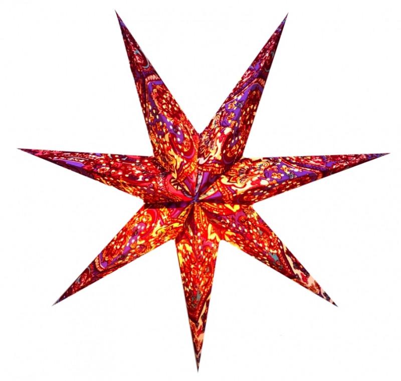 9050114 Светильник Звезда картонная 7 лучей FLOCKING DESIGN №1
