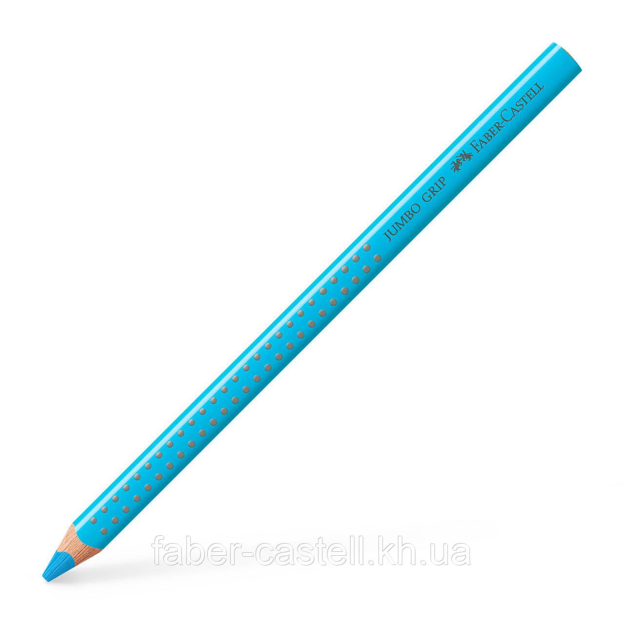 Утолщенный цветной карандаш Faber-Castell Jumbo Grip цвет голубой, 110947