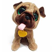 Интерактивная игрушка собака для детей 12 команд Коричневый