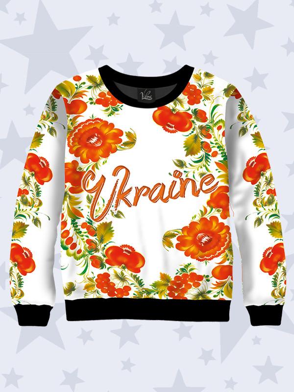 Детский свитшот Цветы Украина